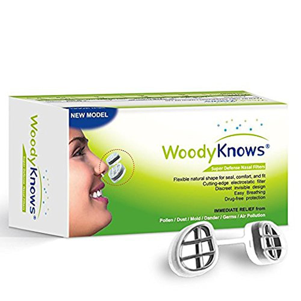 Bzeey Main Image 1-WoodyKnows Nose Filter Super Defense Nasal Filters Multipack S Reduce Air Pollution, Dust, Pollen Invisible Anti Pollution Mask