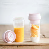 17PIN Star Fruit Cup Small Portable blender Juicer mixer food processor 400ML Magnetic charging 30 Seconds Of Quick