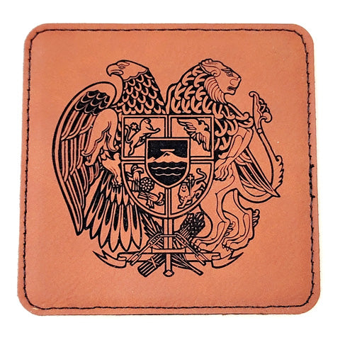 leather coaster engraving