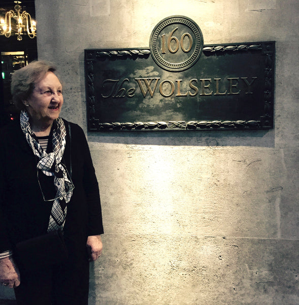 Bloomsbury Antiques Owner - Mary Howard outside the Wolseley