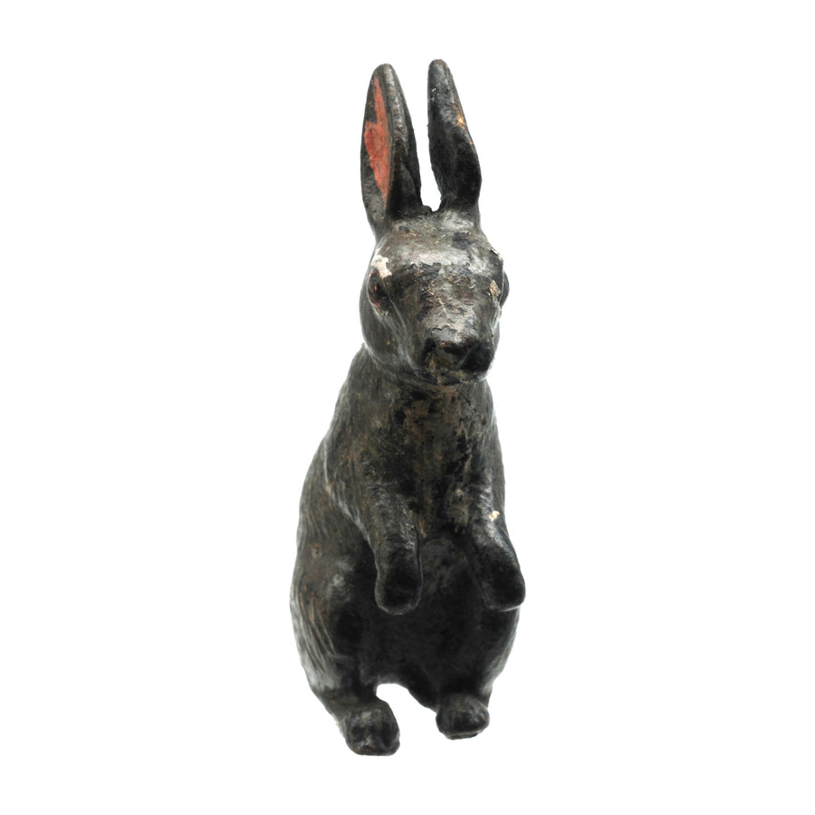 Antique Cold Painted Bergman Bronze Rabbit - Front 2