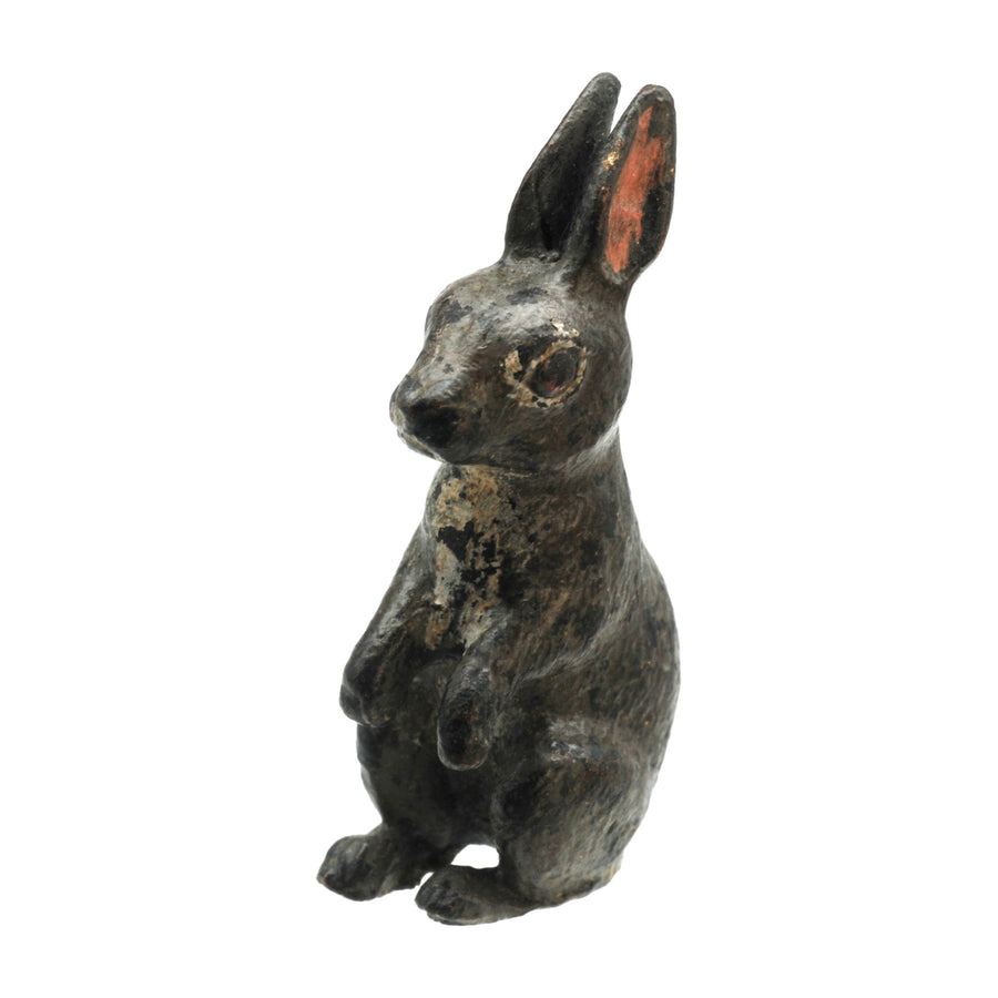 Antique Cold Painted Bergman Bronze Rabbit - Front