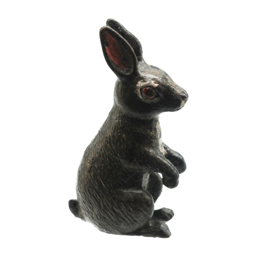 Antique Cold Painted Bergman Bronze Rabbit - Right