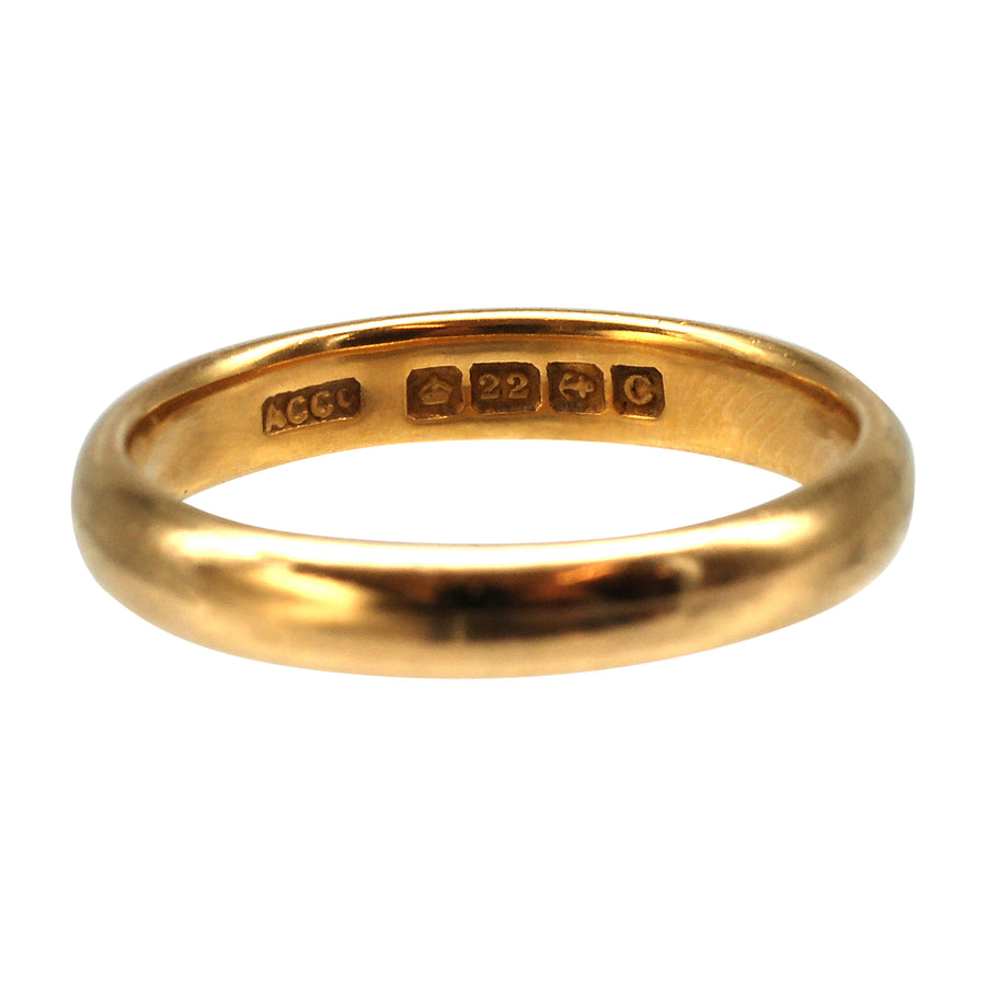 Deco Yellow Gold 22ct Gold Wedding Ring