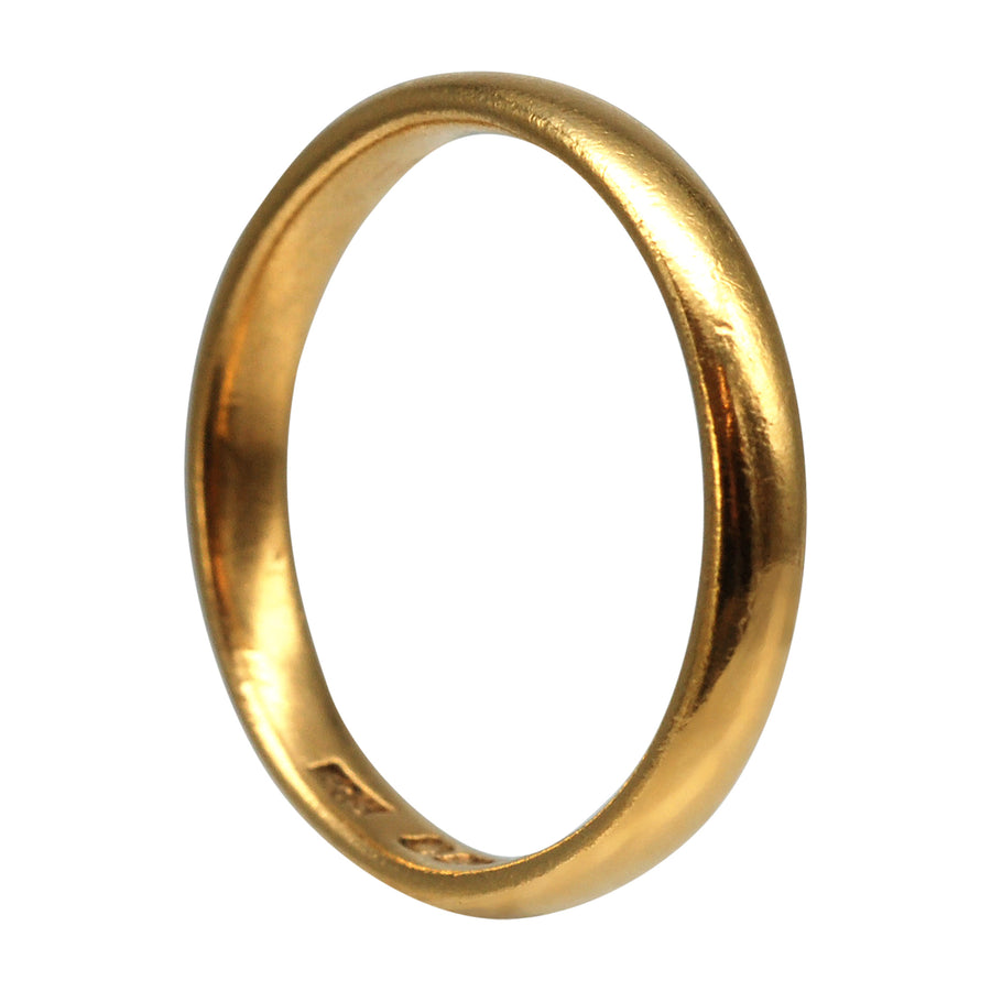 Deco 22ct Yellow Gold wedding Band