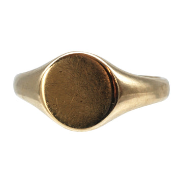 Vintage 9ct gold signet ring 1965