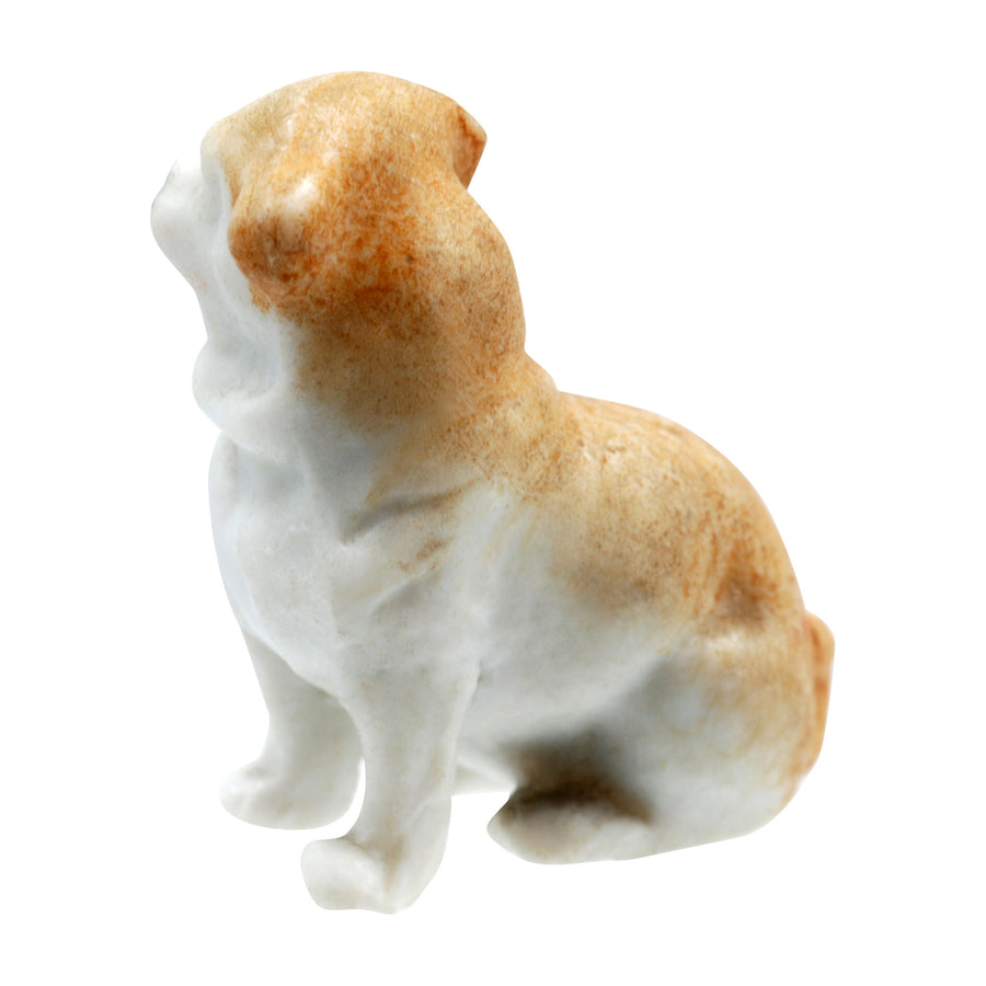 Antique Porcelain Dog Figure - Right Side