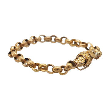 Georgian 15ct Open Link Fancy Link Bracelet