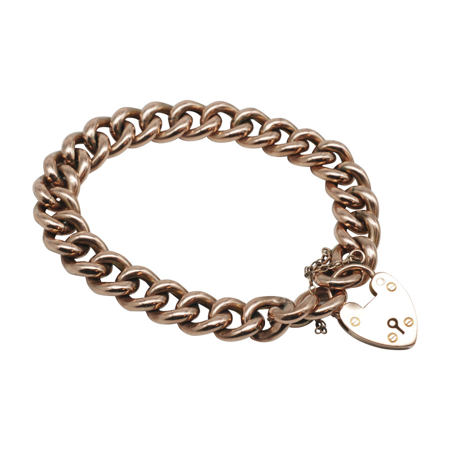 Antique 9ct Rose Gold Curblink Bracelet