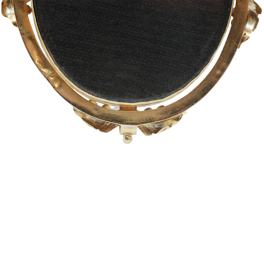 Victorian 18ct Gold and Hairwork mourning brooch.