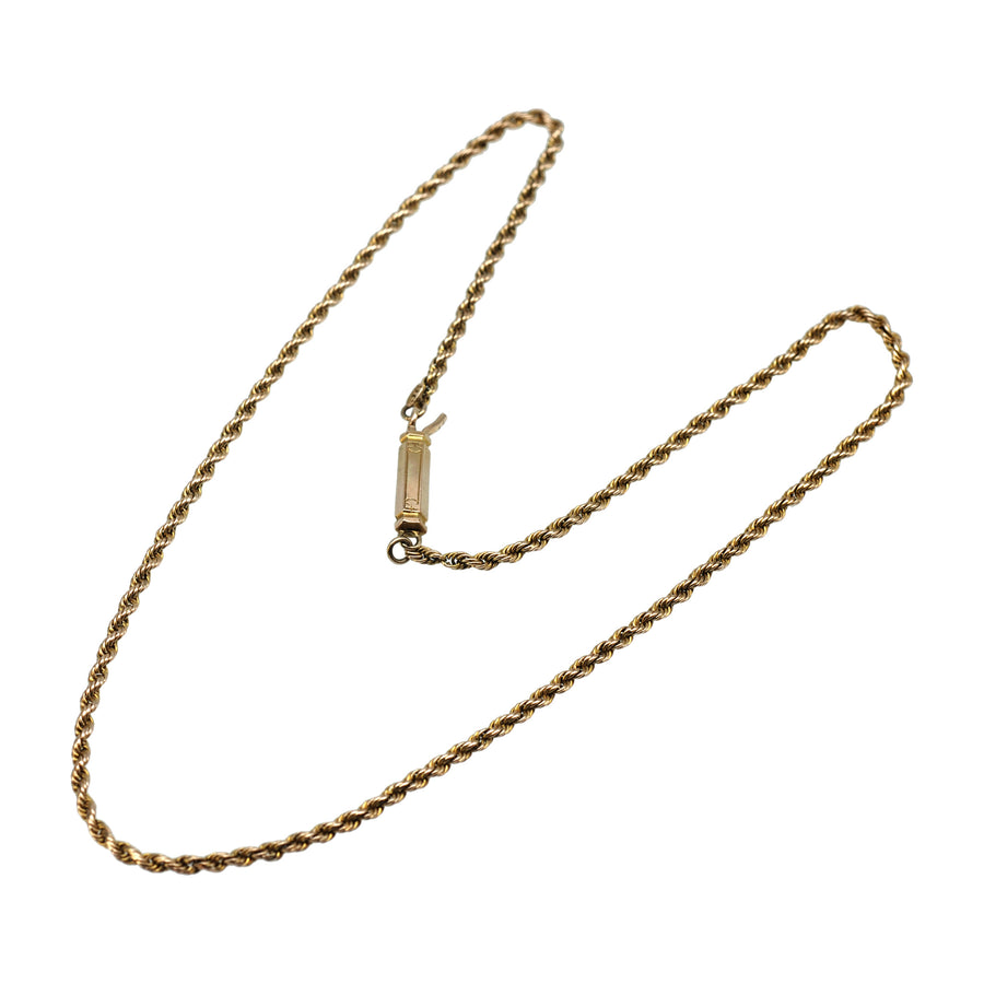 1930's  9ct yellow gold twist chain.