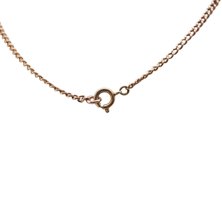 Antique 9ct Rose Gold Fine Curblink Chain