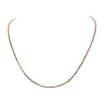 Georgian 15ct Gold Fine Link Chain with Embossing