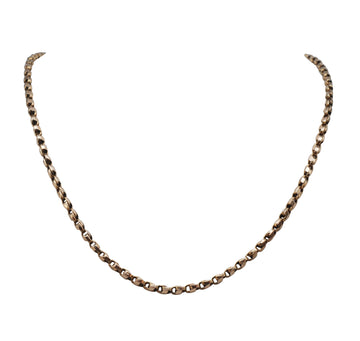Antique Rose Gold 9ct Half Tulip Chain.
