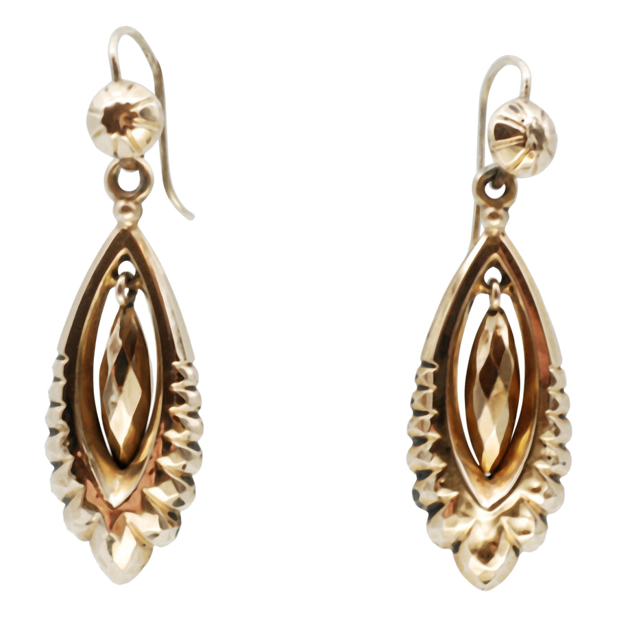 Victorian 9ct Gold Cased Earrings