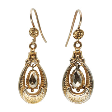 Victorian  9ct gold plated earrings