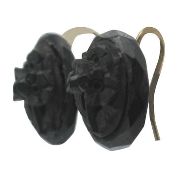 Pressed Whitby jet earrings
