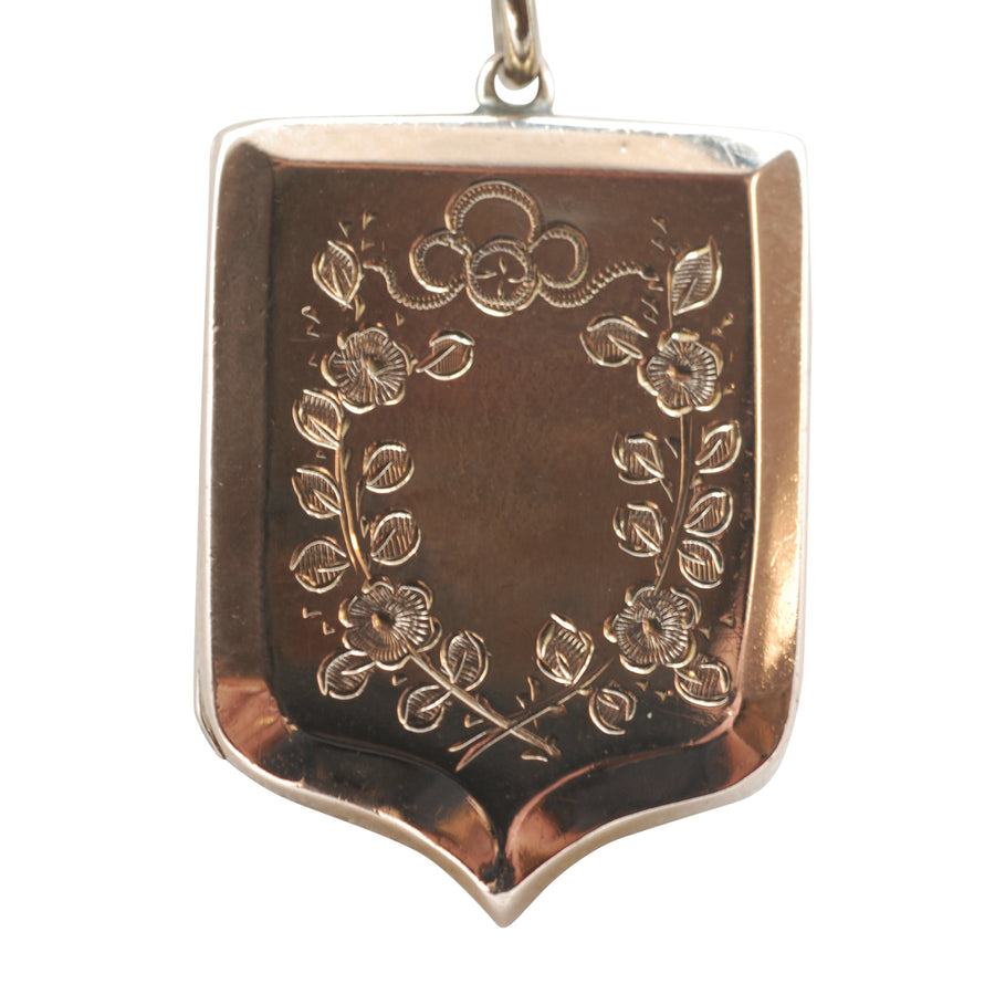 1920's 9ct Back and Front shield shaped engraved Locket