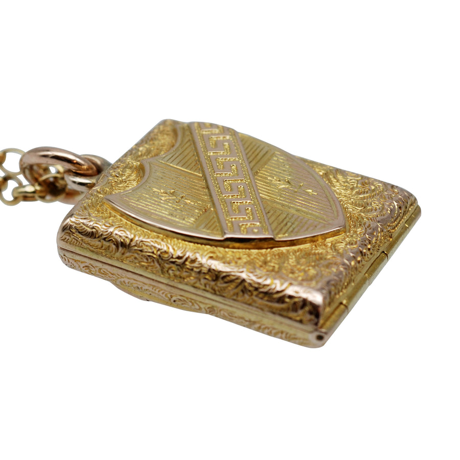 Victorian 15ct Gold Shield Locket