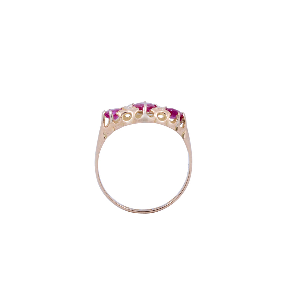 Edwardian 18ct Yellow Gold Tourmaline and Diamond Ring
