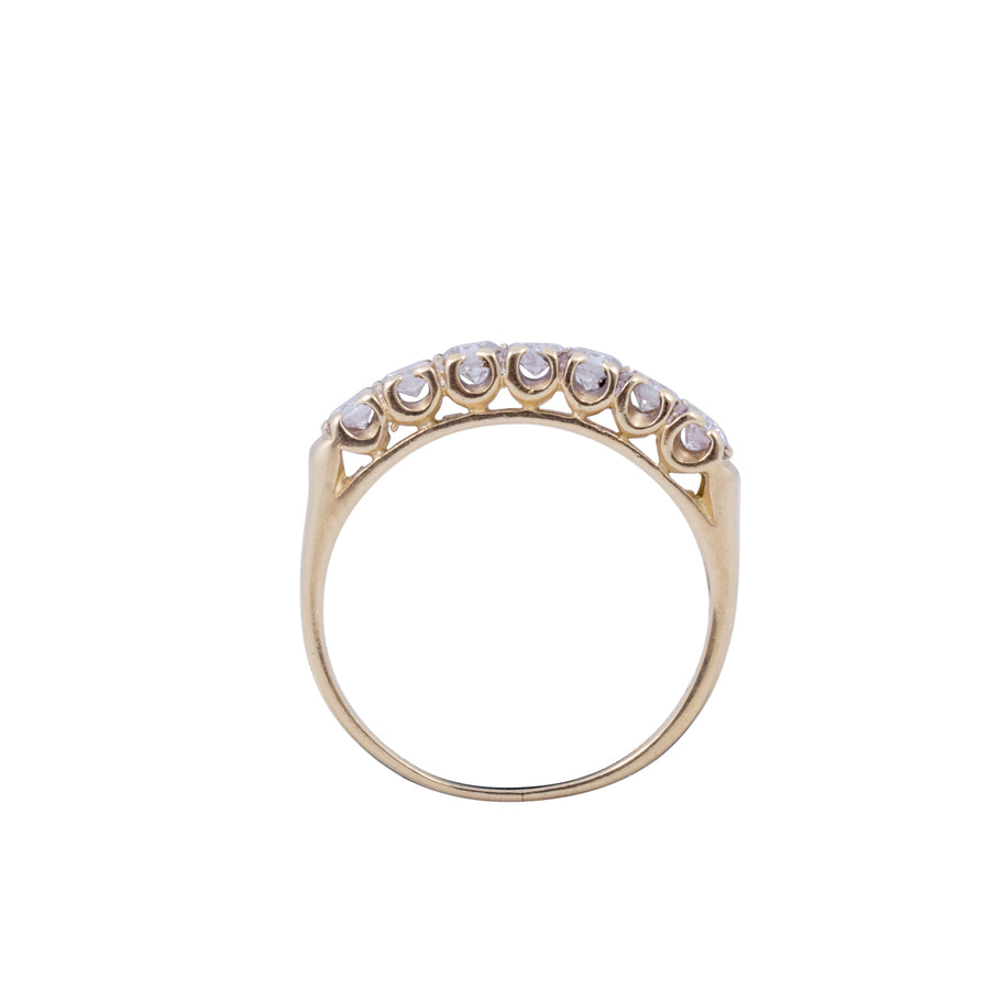 Vintage 18ct Yellow Gold and Diamond Half Hoop Ring