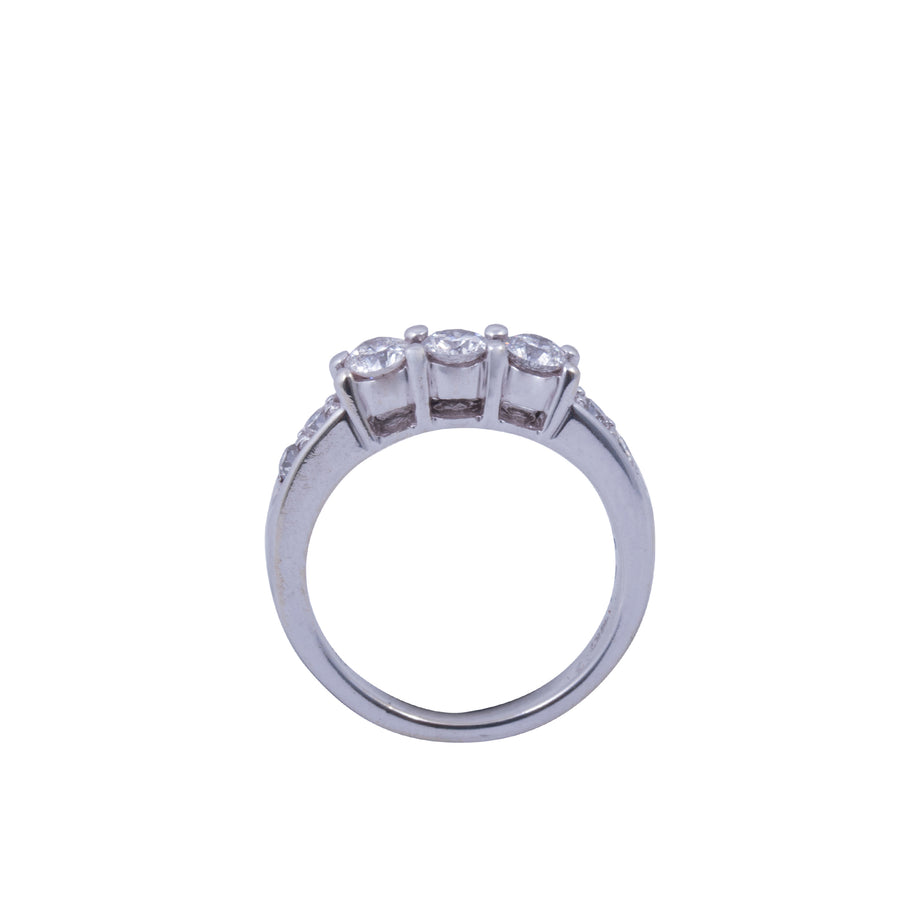 14ct White Gold and Diamond Ring Antique Style