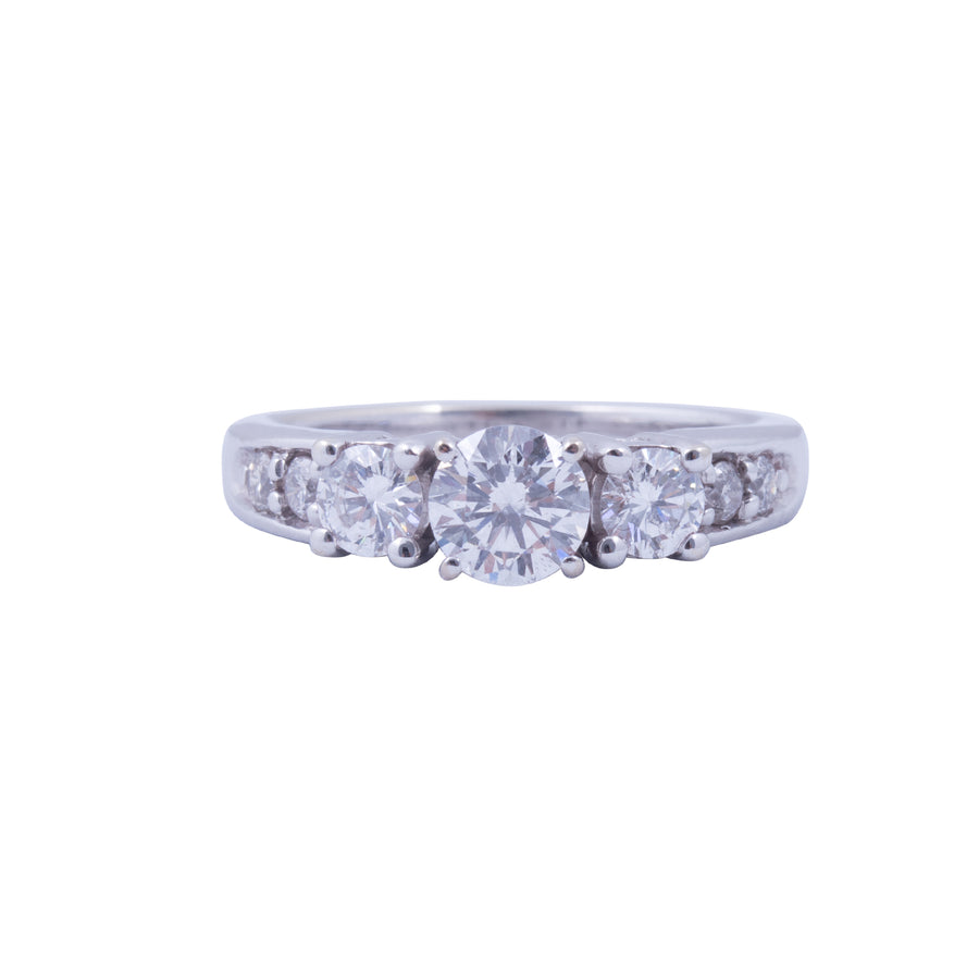 14 Carat White Gold and Diamond Ring