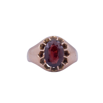 Antique 9ct Rose Gold and Garnet Ring.