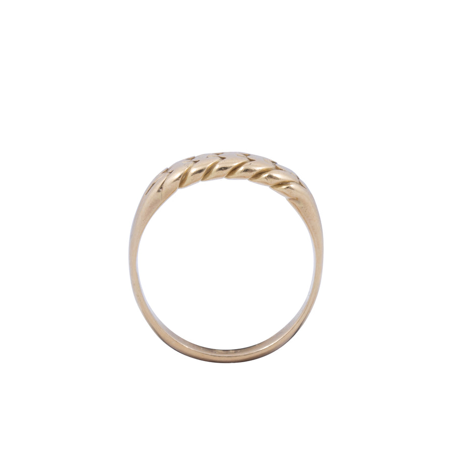 Victorian Antique 18ct Yellow Gold Keepers Ring