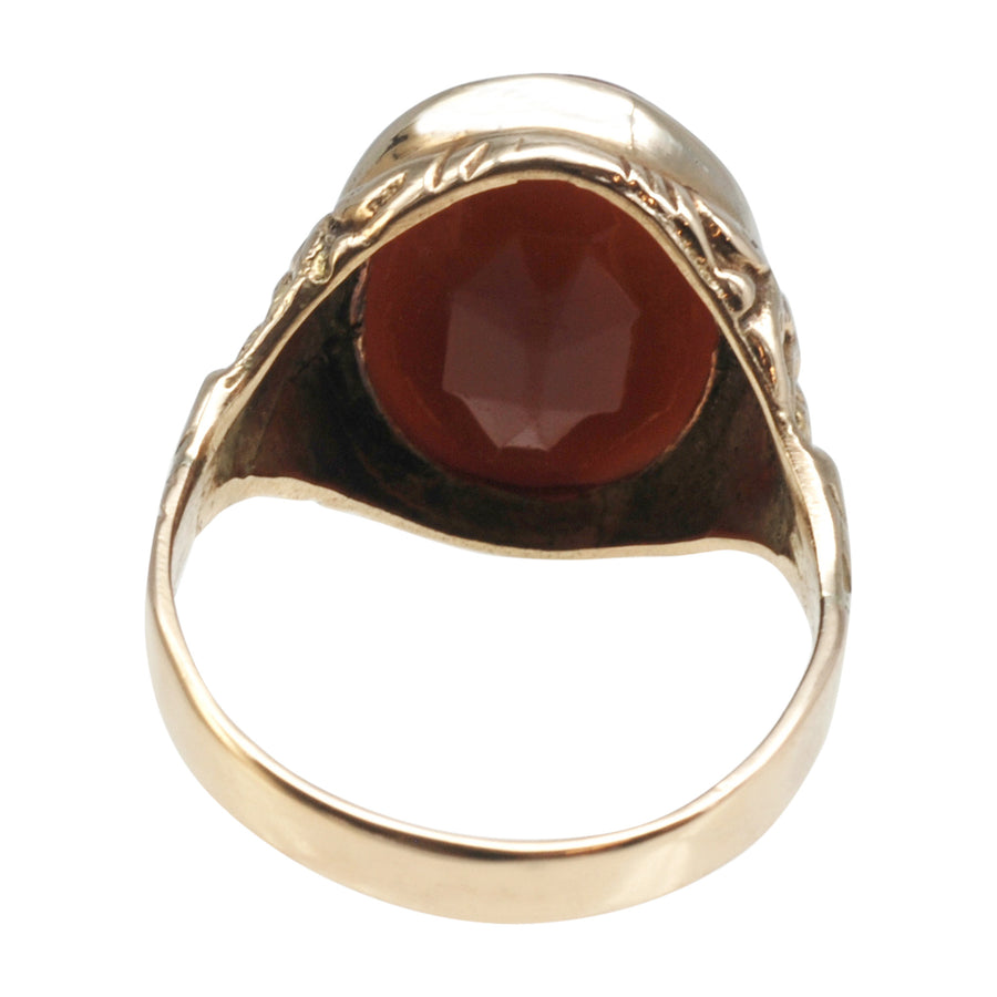 Antique 15ct Gold And Carnelian Intaglio Ring - back