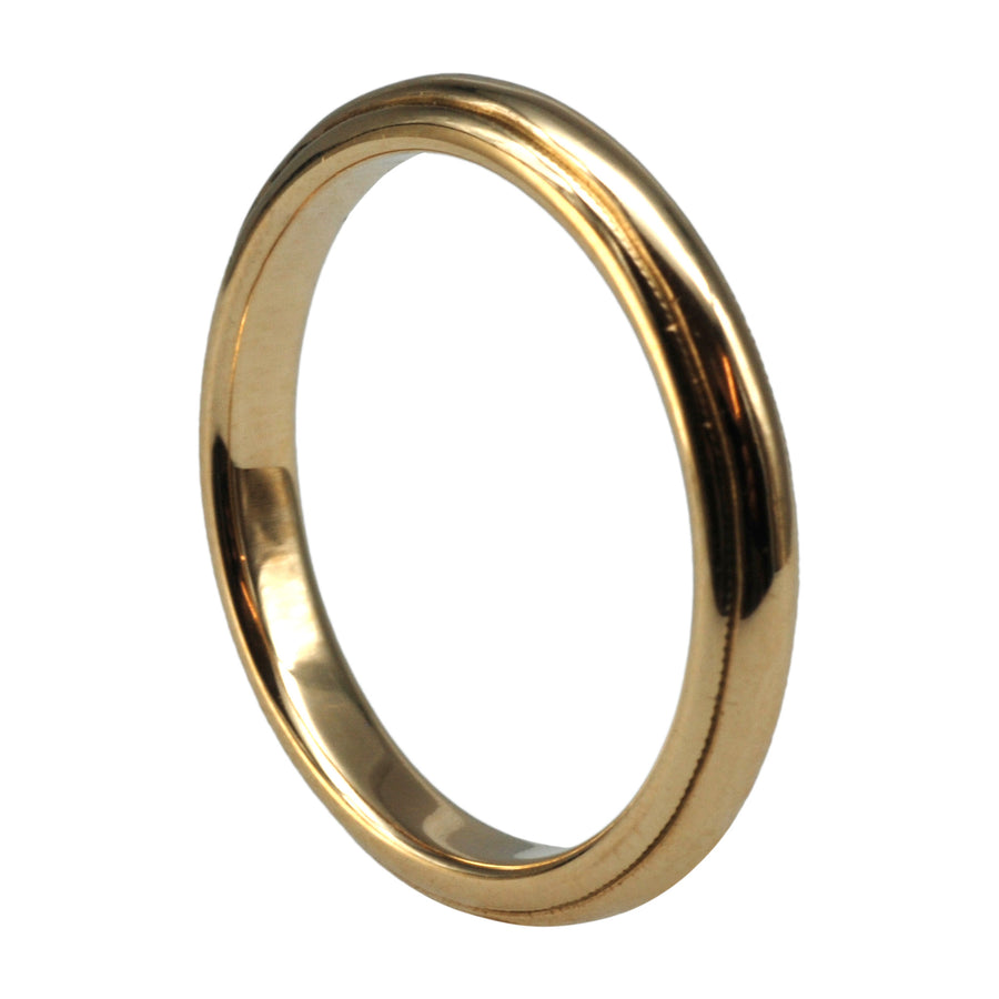 Vintage 9ct Yellow Gold Signet Ring - upright