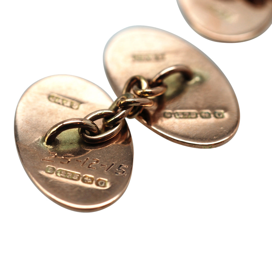 Antique Rose Gold Cufflinks