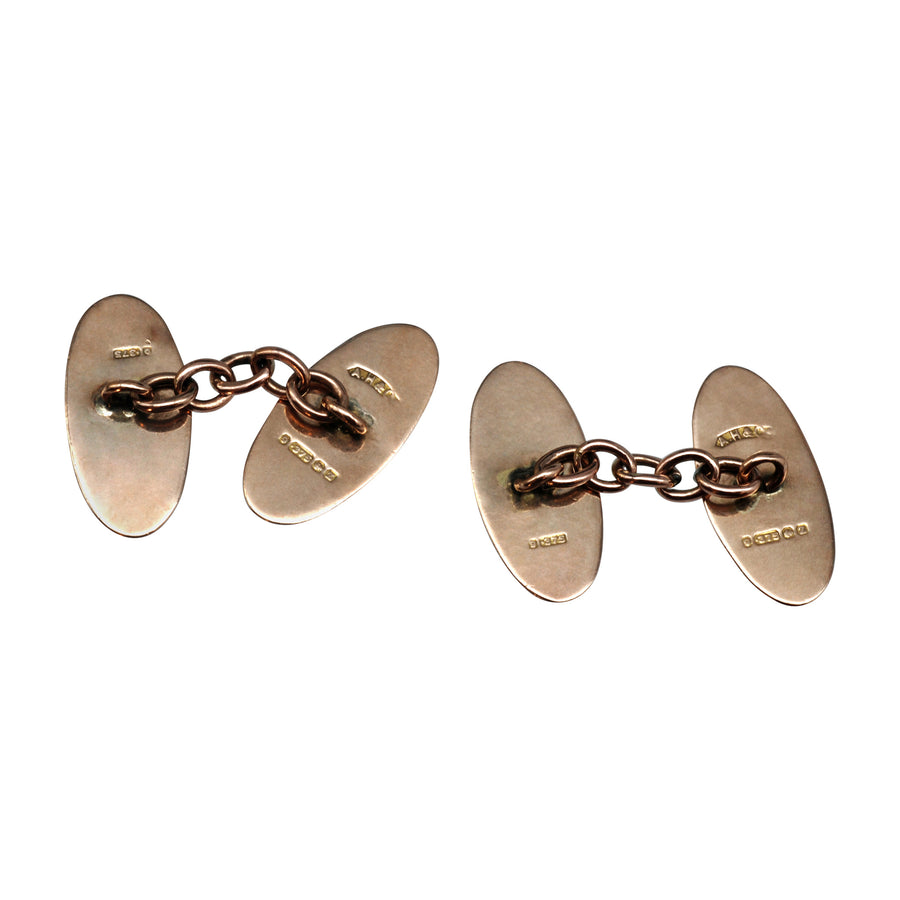 Antique 9ct Rose gold cufflinks