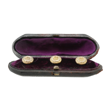 Antique Gold Shirt Studs In Original Box - in box
