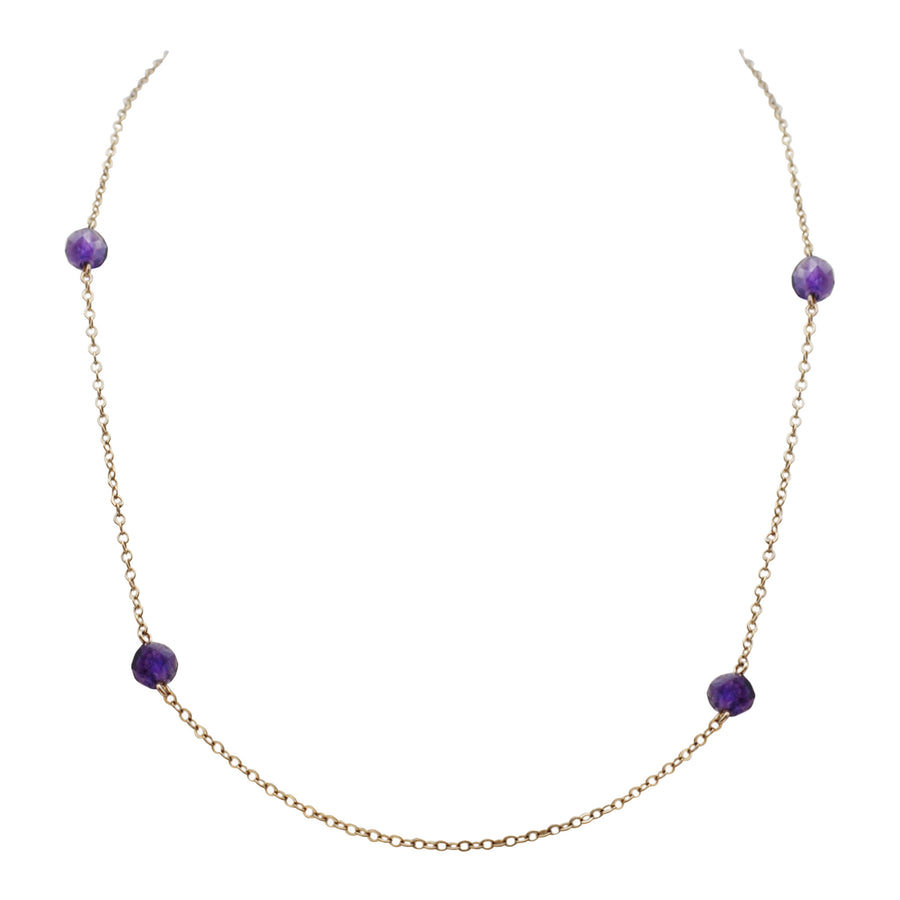 1940's 9ct Gold and Chain Strung Amethysts.