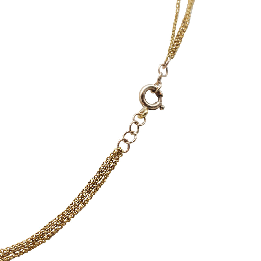 Georgian 18ct Heart Hand Necklet On Chain - clasp