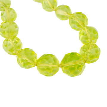 Antique faceted uranium glass flapper necklet