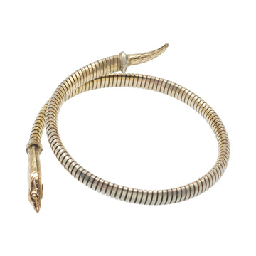 1920's Gold Plated German Snake Bracelet