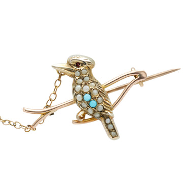 Antique Australian 9ct gold Kookaburra brooch