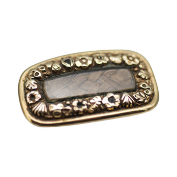 15ct Georgian mourning hair brooch