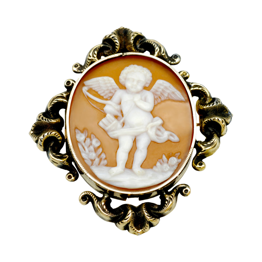 Early Victorian Cameo cupid