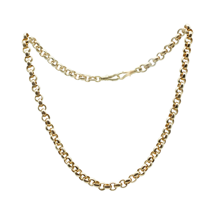 Heavy Antique 9ct Rose Gold Belcher Link Chain 72gms