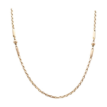 Victorian 9ct gold fancy link chain