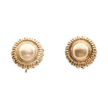 "9ct Victorian ""button"" earrings"