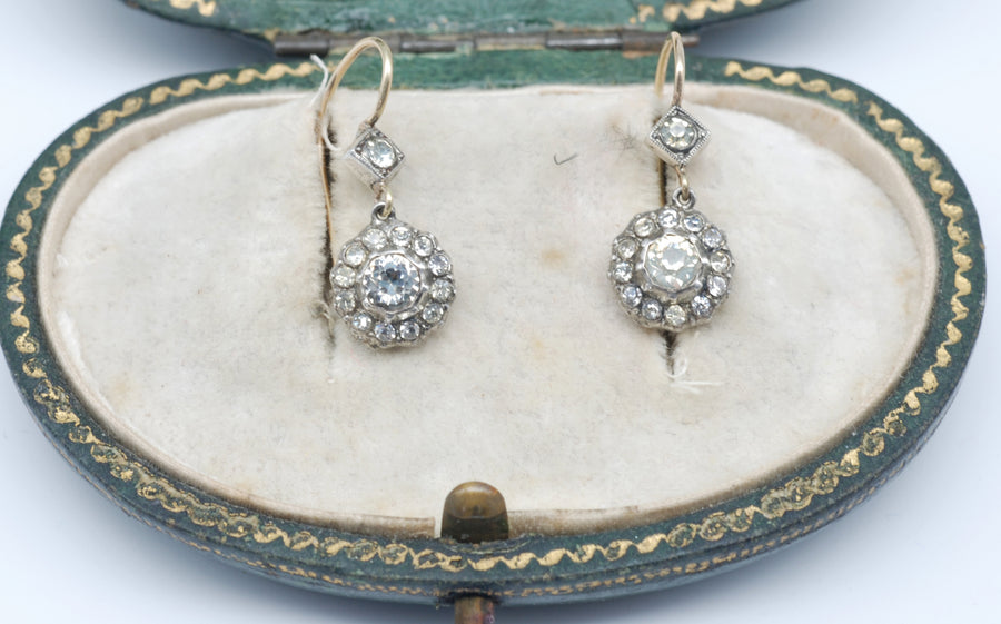 Early Victorian Silver and Gold drop paste clusters.