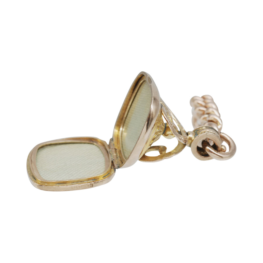 Edwardian  9ct Gold Watch Fob/Seal with locket
