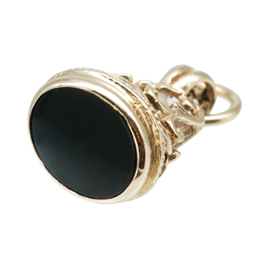 Antique 9ct Gold Bloodstone Fob