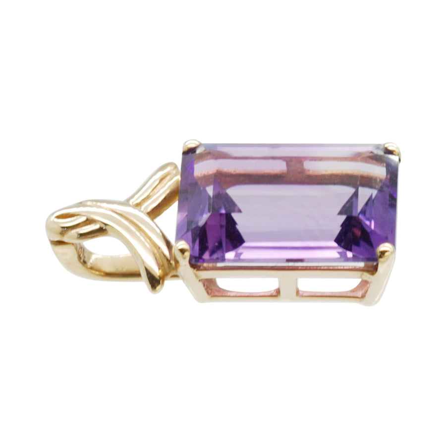 Vintage Amethyst and 9ct Gold Pendant /Enhancer .