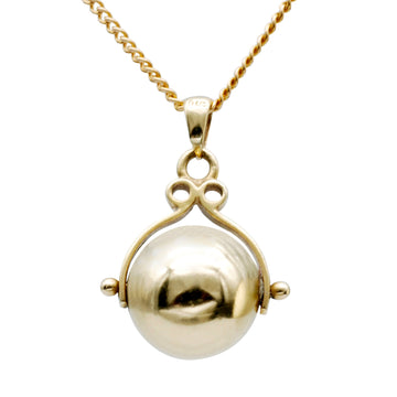 Antique 9ct ball charm