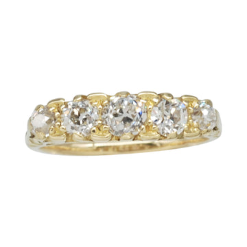 Victorian 18ct Gold graduated Diamond bridge ring